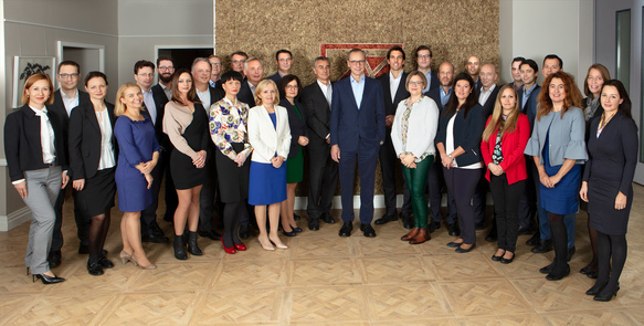 ©The Board of Kathrein Privatbank with the Portfolio Management Team and the Sales Team.